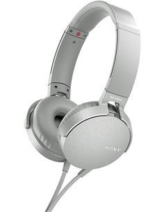 SONY Auricular De Casco Con Microfono MDR-XB550AP Blanco