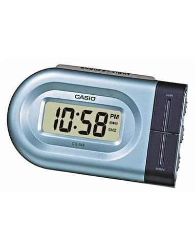 CASIO Reloj Despertador Digital DQ-543-2 Azul