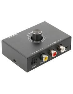 Convertidor de Audio Digital Optico In a Audio Analogico Out con regulador de Volumen ACTV141