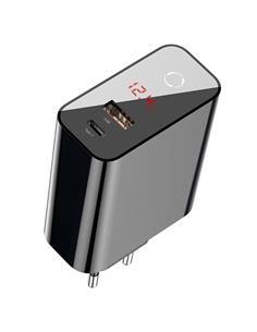 BASEUS Adaptador Red Tipo C+Usb 3.0 45W Negro 4.5V-5A/5V-4.5A/9V-3A/12V-3A/20V-2.5V