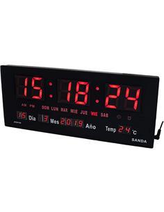 SANDA Reloj Calendario Rectangular SD-0015