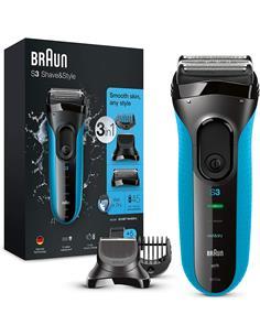 BRAUN Afeitadora S3 Shave & Style 3 En 1 3010BT Afeitar,Recortar,Perfilar