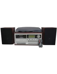 ROADSTAR Equipo De Musica HIF-8892D Con Tocadisco, Bluetooth,CD, Cassete, Raido Fm,Aux