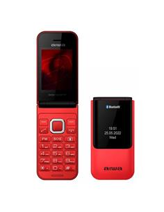 AIWA Telefono Movil Basico De Tapa FP-24RD Rojo