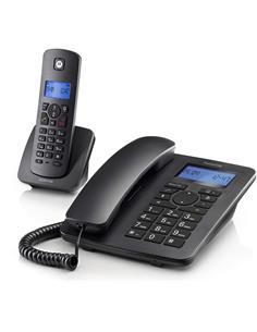 MOTOROLA Pack Telefono Sobremesa + Inalambrico Negro C4201