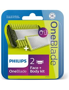 PHILIPS Cuchilla Repuesto One Blade Body Kit+Cara QP620/50
