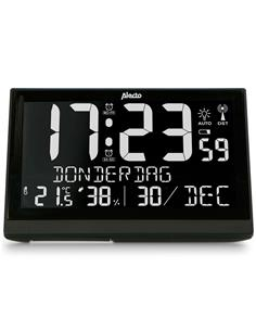 ALECTO Reloj Despertador Con Termometro y Higrometro AK-70 Negro