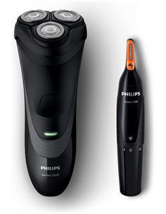 PHILIPS Afeitadora De Barba S1520 Series1000+ Recortadora Nariz NT1150