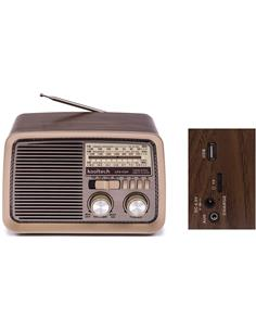 KOOLTECH Radio Portatil  AM/FM/SW Retro Madera CPR POP Con Bluetooth,Usb,Micro SD