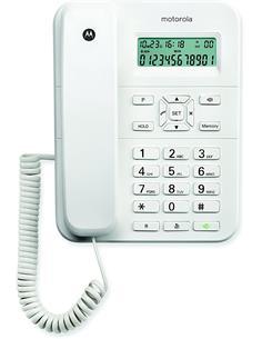 MOTOROLA Telefono Fijo Sobremesa CT202 Blanco Manos libres