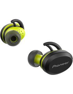 PIONEER Auricular Bluetooth SE-E8TW Amarillo Con Estuche de Carga Resistente al Sudor