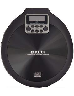 AIWA  Reproductor CD Portatil Discman PCD-810BK Negro Anti Shock Incluye 2X Pilas, Auricular