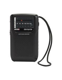 AIWA Radio de Bolsillo Analogica AM/FM RS-33 Negra Con Correa Sujecion