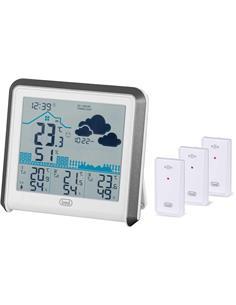 TREVI Estacion Metereologica Con LCD,3 Sensores Externos ME 3P80 RC Blanco
