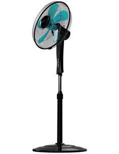 CECOTEC Ventilador Pie 5 Aspas,50W, 3 Velocidades Con Mando Energy Silence 530 Power Connected Negro