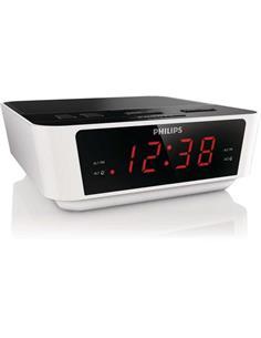 PHILIPS Radio Reloj Despertador Digital AJ3116 Doble Alarma Blanco