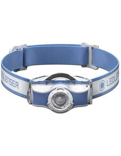 LED LENSER MH3 Linterna Frontal 200 Lumenes, Distancia 130Mtrs, 1 Pila AA, IP54 Azul
