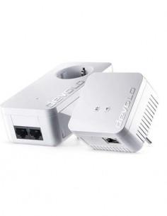 DEVOLO Kit 2 PLC 09637 dLan 550 Wifi, Compacto, Encriptacion, 2 Conexion Lan, Entrada Enchufe