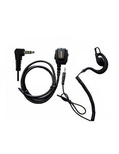 JETFON BR-1704E/C Micro Auricular Para Yaesu Clavija Jack 3.5 DYNASCAN 1D MINI, VX-110-150 Sin Rosca