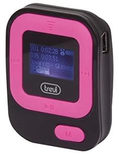 TREVI MPV 1705 SR Reproductor MP3 con Radio FM, Tarjeta Micro SD 8GB con Auriculares, Rosa