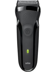 BRAUN Afeitadora de Barba Series 3 300s Recargable, Lavable, Mango Ergonomico Con Funda