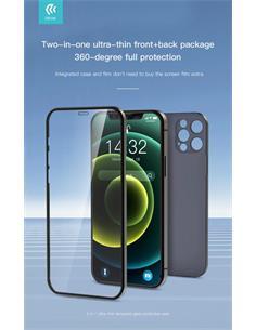 DEVIA Carcasa+Cristal Templado Iphone 12 Azul