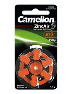 CAMELION Pack De 6 Pilas Boton A13 Audifono Zinc Air 1.4V