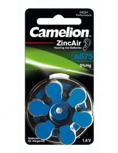 CAMELION Pack De 6 Pilas Boton A675 Audifono Zinc Air 1.4V