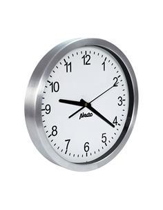 ALECTO Reloj De Pared Clasico AK-10 Esfera Redonda Blanca Aluminio