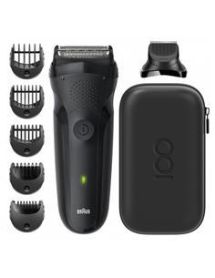 BRAUN Afeitadora Recortadora de Barba Seires 3 Edicion Limitada 3 en 1  Recargable,Lavable MBS3