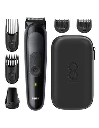 BRAUN Cortapelo + Afeitadora de Barba Styling Kit 5 E. Limitada 6 En 1 Lavable, Recargable MBMGK5