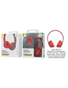 ONEPLUS Auricular Casco Bluetooth Con Radio FM, Aux Rojo C6391