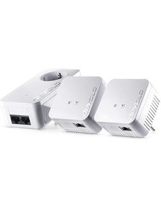 DEVOLO Kit 3 PLC 09644 dLan 550 Wifi, Compacto, Encriptacion, 2 Conexion Lan, Entrada Enchufe