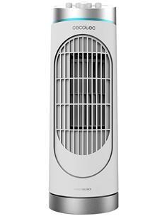 CECOTEC Ventilador Torre Sobremesa Energy Silence 3000 Desktower Blanco 30W,3 Velocidades
