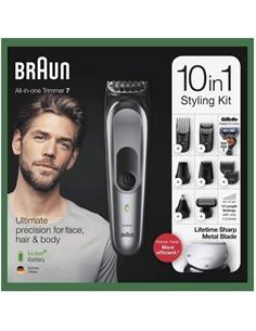 BRAUN Trimming MGK7221 10 en 1 Barba,Pelo y Cuerpo Recargable Lavable
