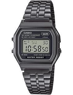CASIO COLECCION A158WETB-1AEF Reloj Digital,Acero Inoxidable,Fecha Alarmas,Cronometro Resist al Agua