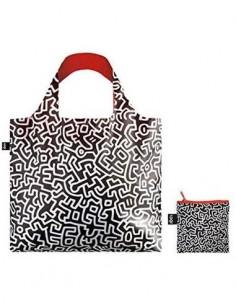 LOQI KH.PL Bolsa Plegable Keith Haring Bolsa Sin Nombre 50x42Cms/ Hasta 20Kg de Carga