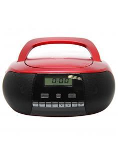 SUNSTECH Reproductor Radio Cd Portatil  CRUSM400 Rojo Usb,Aix In 2Wº