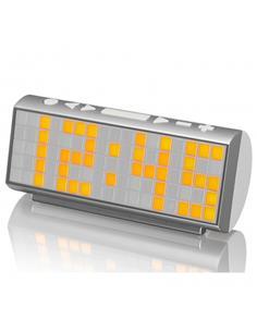 SYTECH Radio Reloj Despertador SY-1037 Con Temperatura Y Calendario Dot Matrix