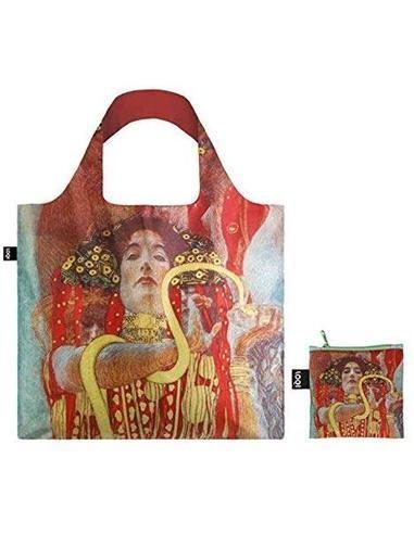 LOQI GH.HY Bolsa Plegable Gustav Klimt Hygieia 50x42Cms/ Hasta 20Kg de Carga