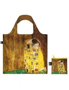 LOQI GK.KI Bolsa Plegable Gustav Klimt El Beso 50x42Cms/ Hasta 20Kg de Carga