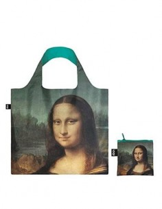 LOQI LV.MO Bolsa Plegable Forma Leronardo Da Vinci Mona Lisa 50x42Cms/ Hasta 20Kg de Carga