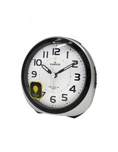 NAMASTE Reloj Despertador D-SC872SP.18 Silencioso Plata