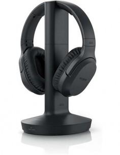 SONY Auricular Inalambrico MDR-RF895RK Negro Reduccion de Ruido, Transmision RF, Alcance 100mtrs