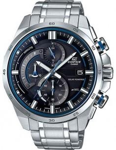 CASIO BRAND EQS-600D-1A2UEF Reloj Edifice Analogico, Fecha, Correa Metalica, Solar, Resistente