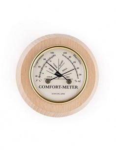 KIKKERLAND Barometro Analogico Con Temperatura y Humedad Diseño Madera ST104-S