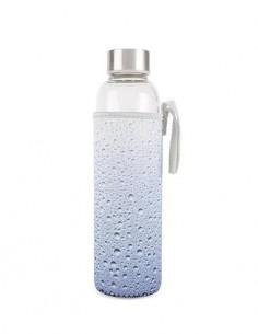KIKKERLAND Botella De Cristal Con Funda Diseño Agua 591Ml CU245