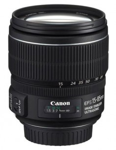CANON Objetivo EFS15-85MM Con Estabilizador F, 3.5-5.6 IS USM