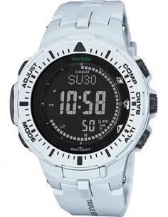 CASIO BRAND PRG-300-7ER PRO TREK Reloj Digital Correa Resina Blanco, Energia Solar, Brujula, Altimet
