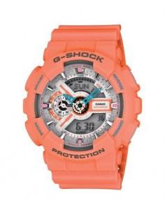 CASIO BRAND GA-110DN-4AER Reloj G-Shock Rosa Hora Mundial, Fecha, 5 Alarmas, Submergible, Correa de